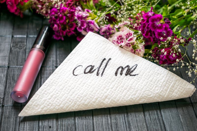 Call me written on a napkin