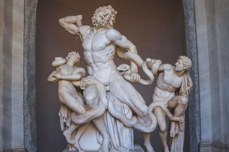 Classical figurative statue