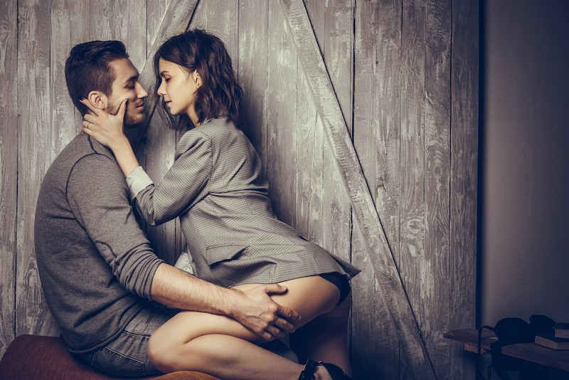 couple near kissing