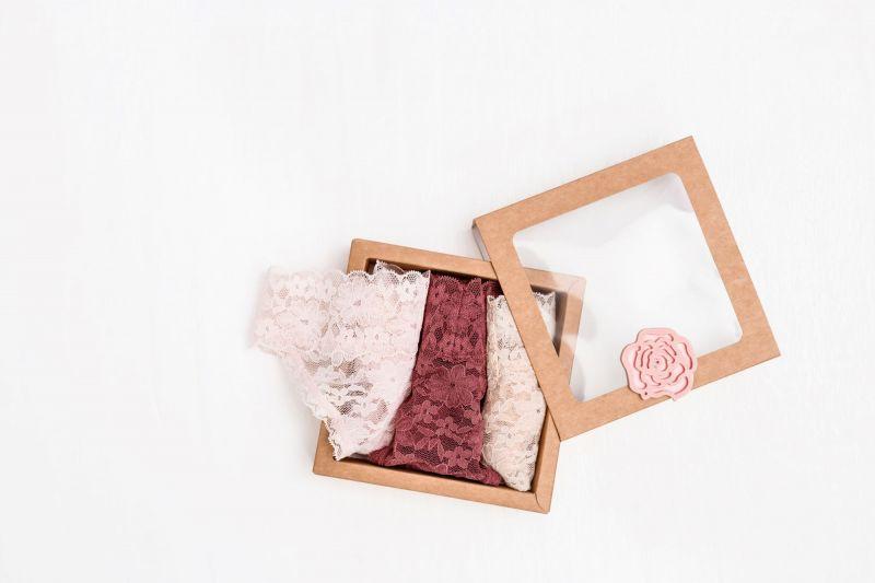 Female underwear in box