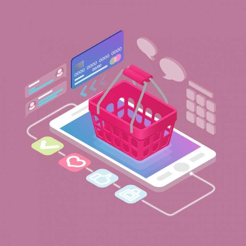 Banner online mobile shopping