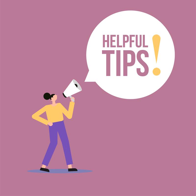 Helpful tips banners