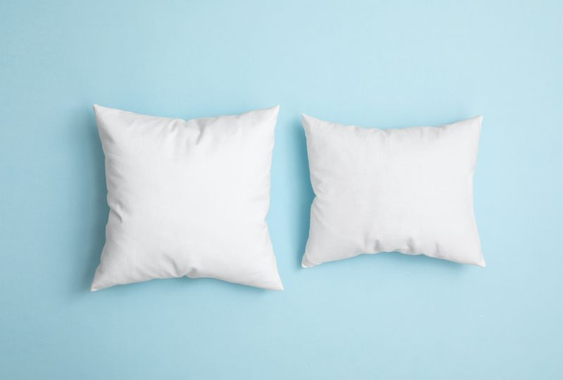 two pillows on background
