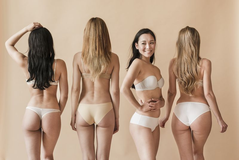 Young women in underwear