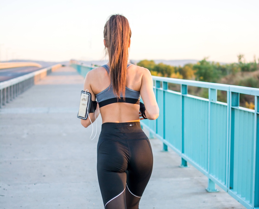 Sexy Woman Running